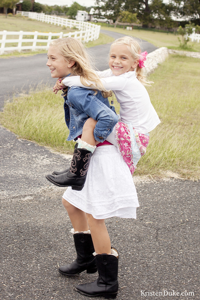 sisters piggyback picture
