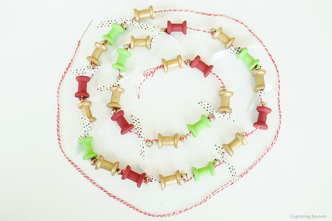 twine spool garland