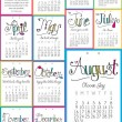 Free 2015 Printable Mini Calendar with a different motivational message each month!