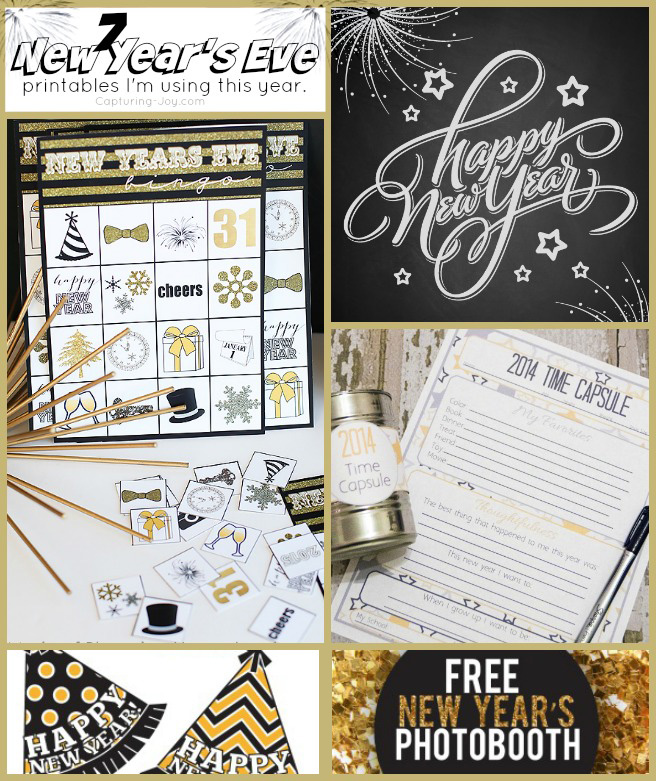 7 New Year's Eve Printables to use this year