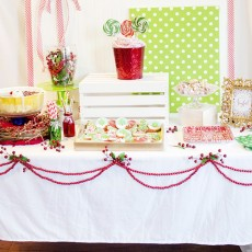 Decorated Christmas Party Table