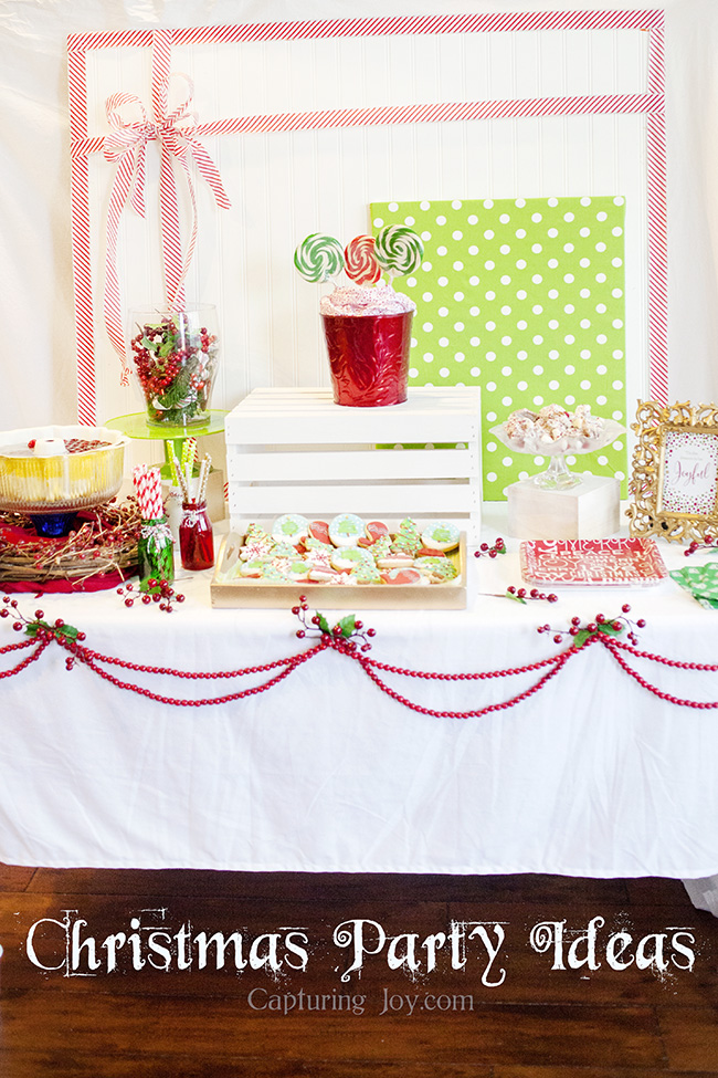 Christmas Party Ideas At Home Part - 49: Decorated Christmas Party Table