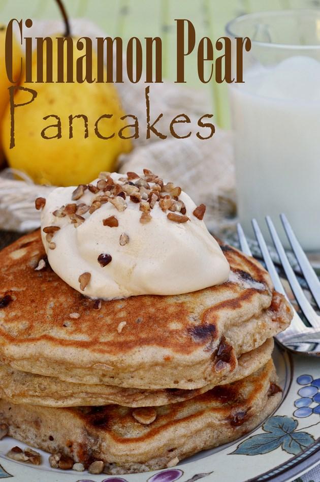 Cinnamon Pear Pancakes Kristen Duke