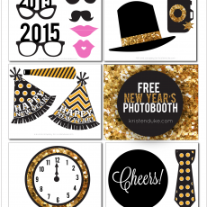 Free New Year's Photobooth props from kristenduke.com