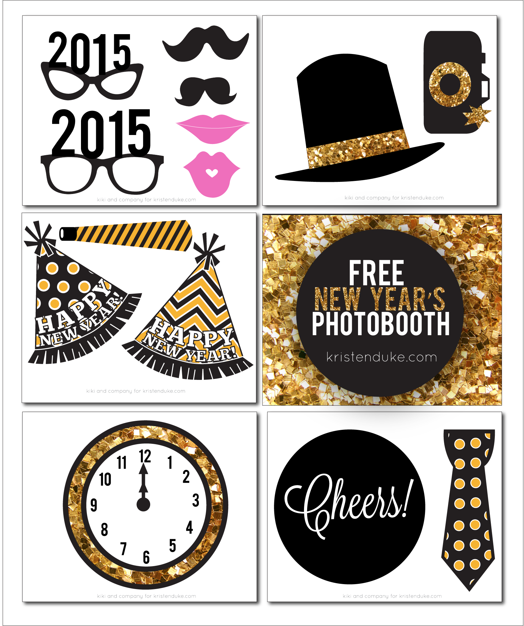 New Years Eve Photo Booth Props - Printable Photo Booth