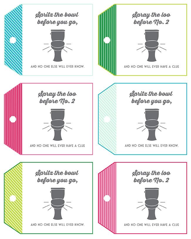 Poo Pourri Gift Idea And Free Printable Tag