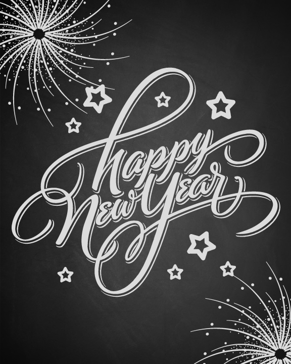 Happy New Year Printable