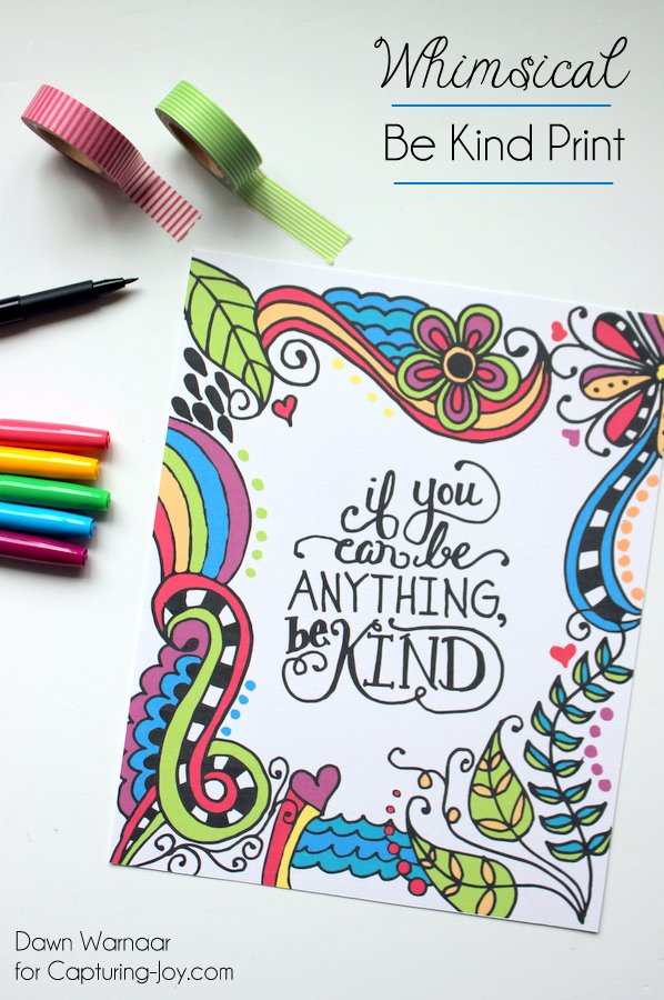 If You Can Be Anything Be Kind - Print available in 3 sizes | Kristen Duke