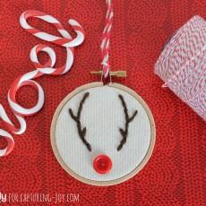 Reindeer Embroidery Hoop