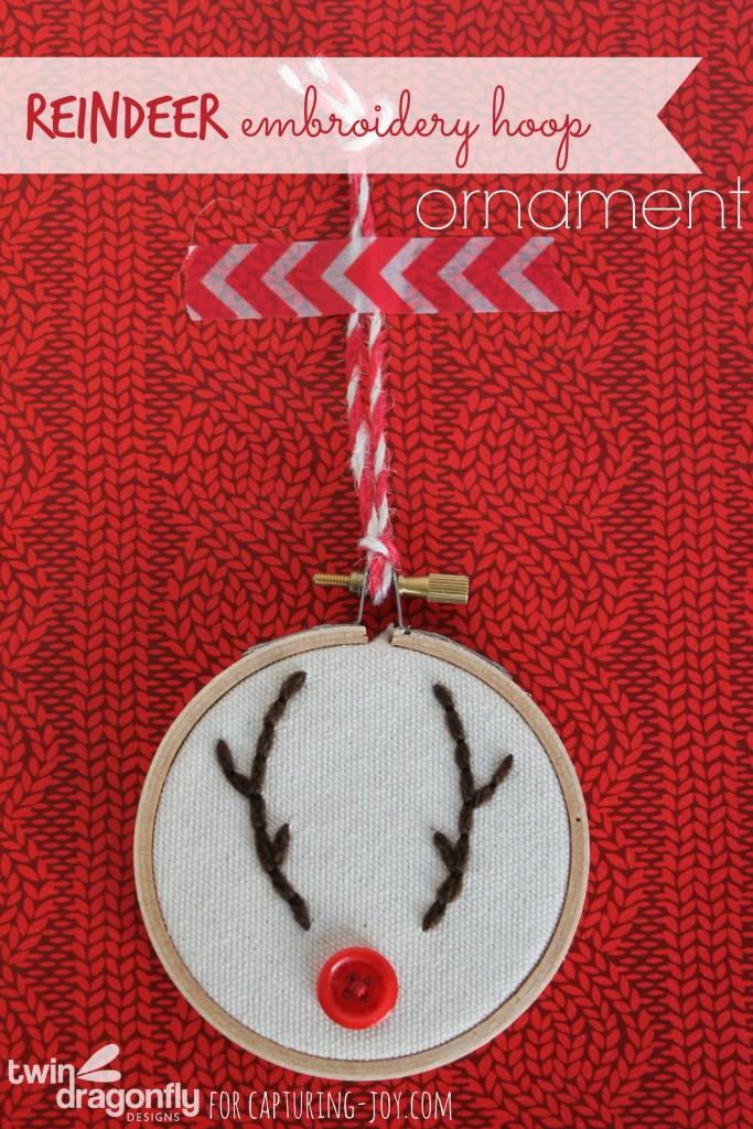Reindeer Embroidery Hoop Ornaments