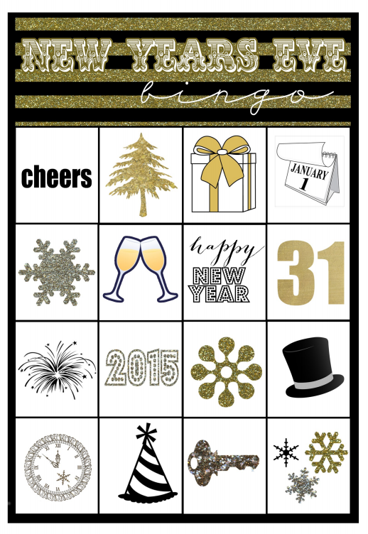 Here is a look at the Bingo card that you'll download: