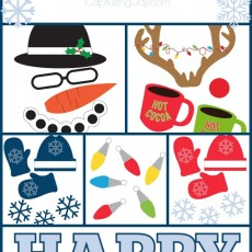Winter Holiday Free Photo Booth Props