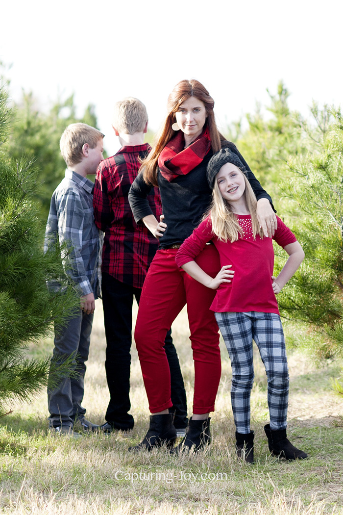 christmas party fashion with buffalo plaid
