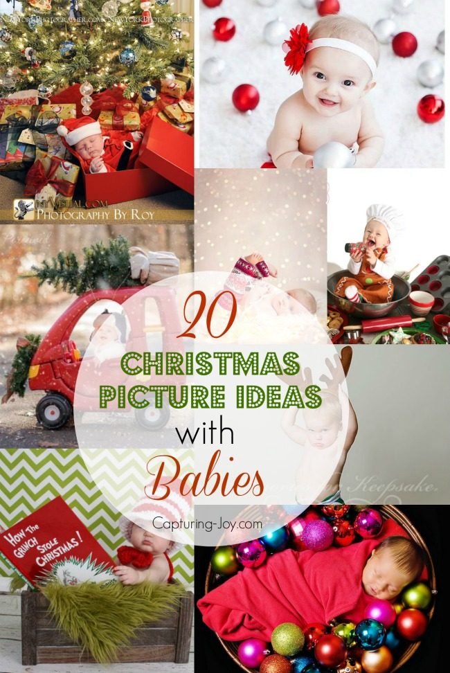 20 ideas for christmas pictures with babies