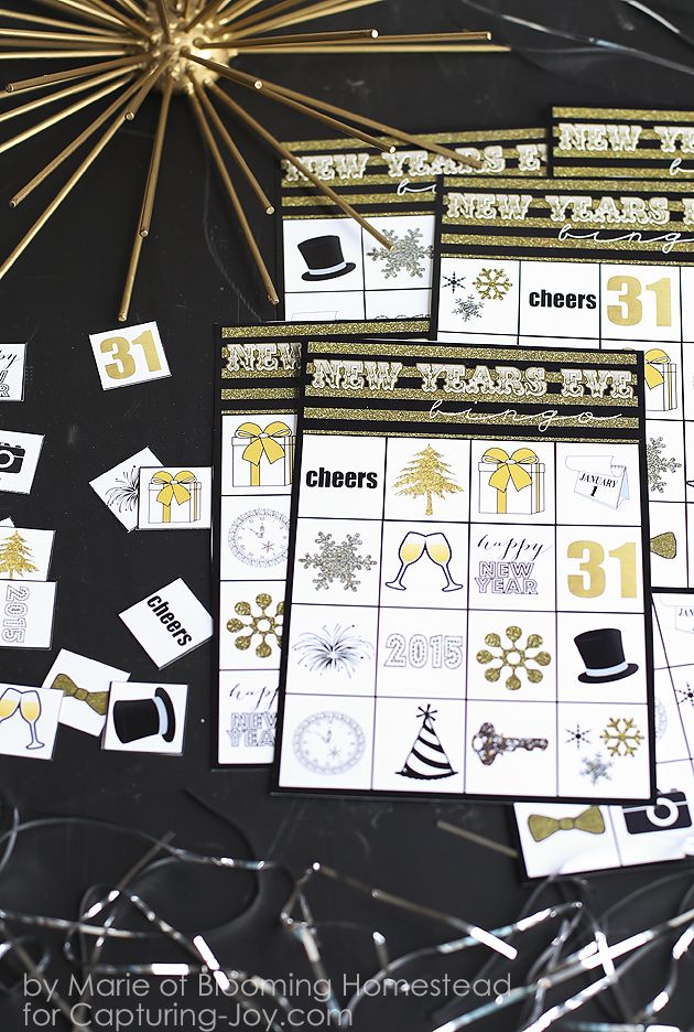 New Years Bingo Game Printable