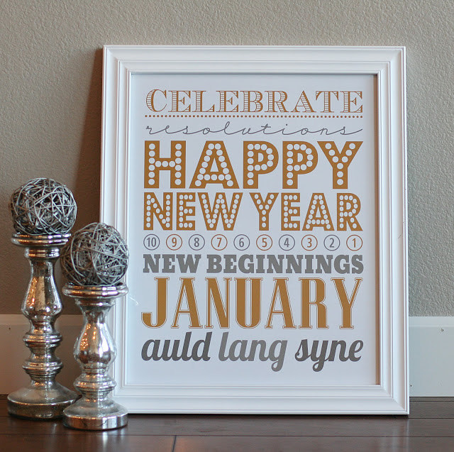 new years eve subway art printable