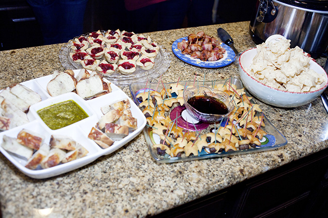 savory appetizer table