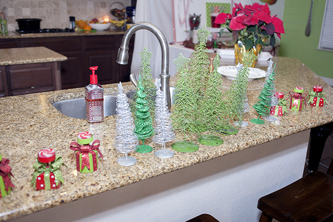 trees on counter