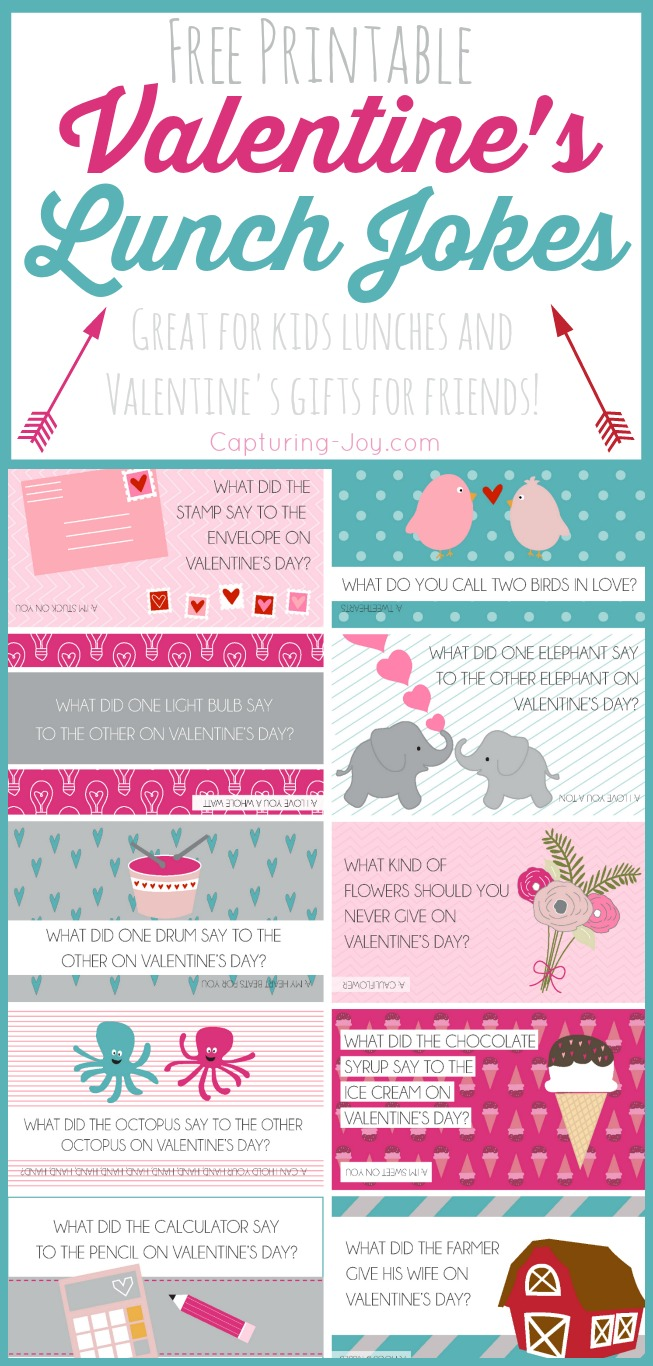 image regarding Printable Valentine Picture identified as No cost Printable Valentine Jokes - Shooting Pleasure with Kristen Duke