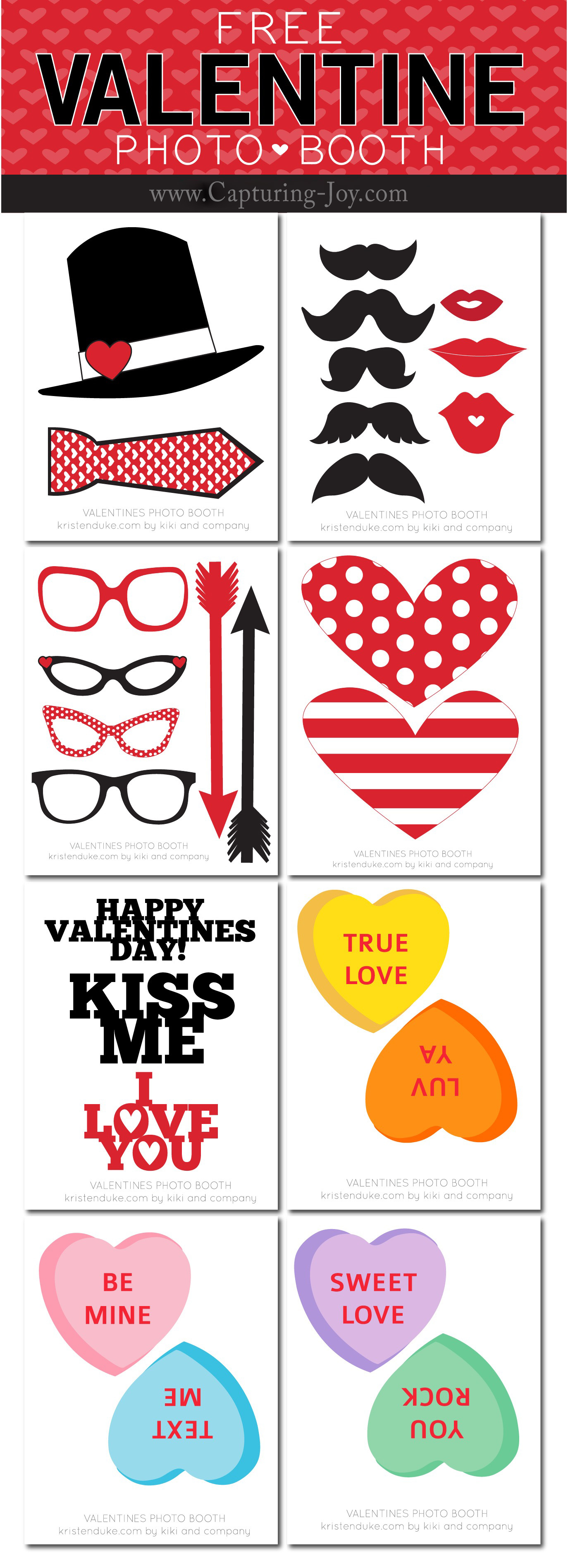 Valentine's Photo Booth Props - Capturing Joy with Kristen Duke