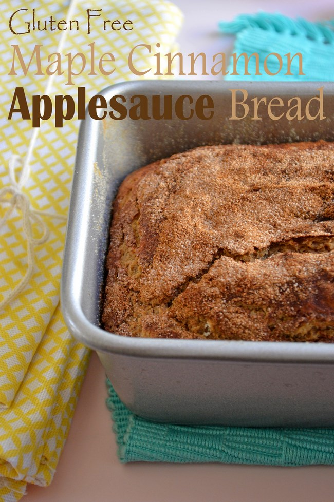 Gluten Free Cinnamon Maple Applesauce Bread