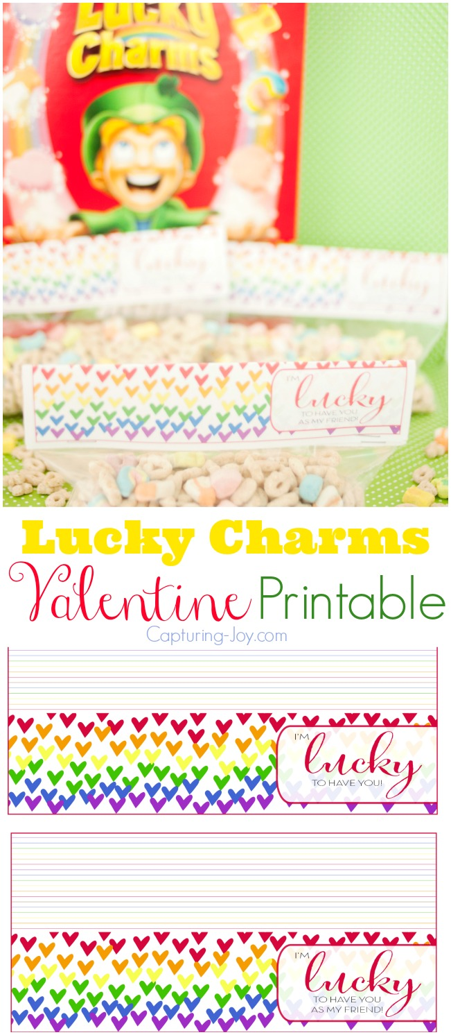 Lucky Charms Valentine Printable