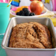 Maple Cinnamon Applesauce Bread