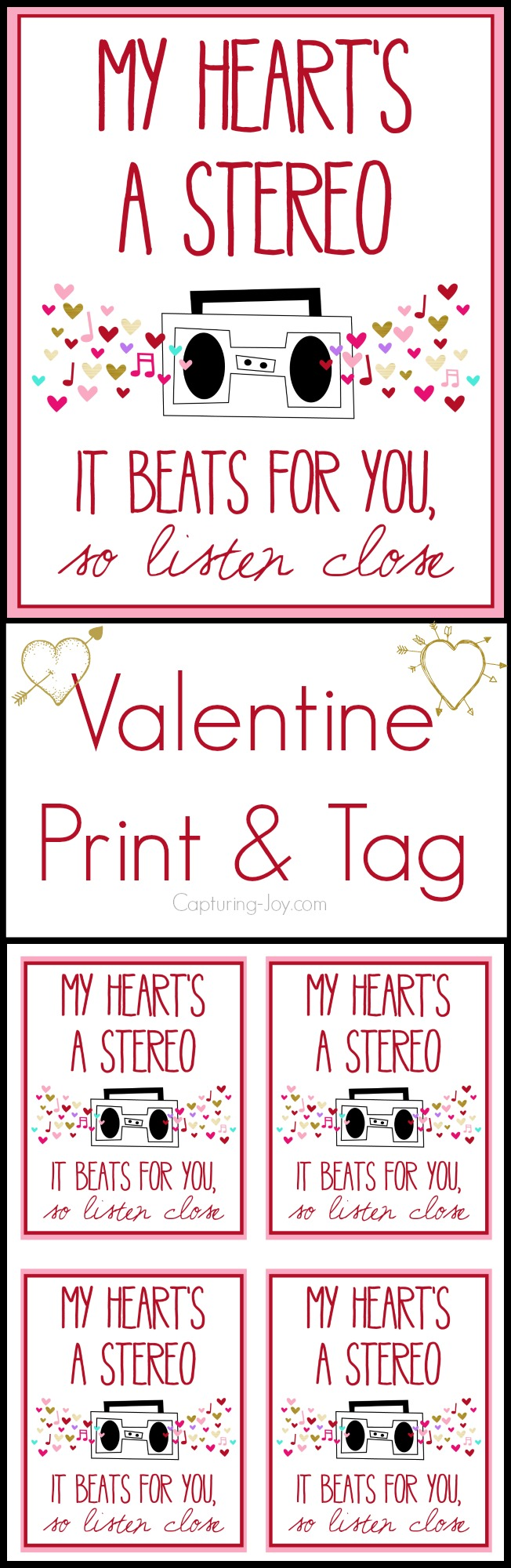 My Heart's a stereo Valentine Print