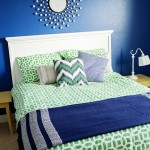 Kelly Green and Navy Bedroom