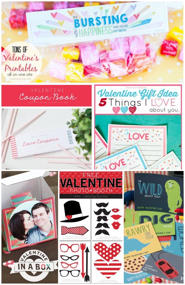 Tons of Valentine's Printables all on one site