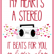 Valentine's Stereo 8x10