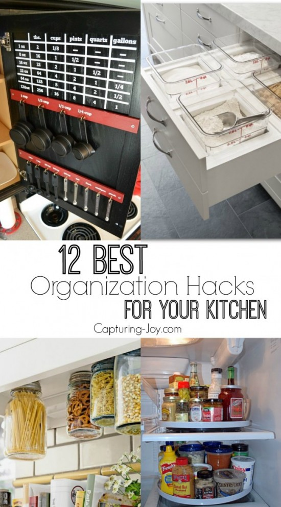 12 best organization hacks for your kitchen capturing for Kitchen organization hacks