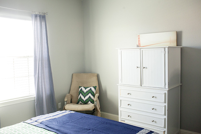 guest room blank wall