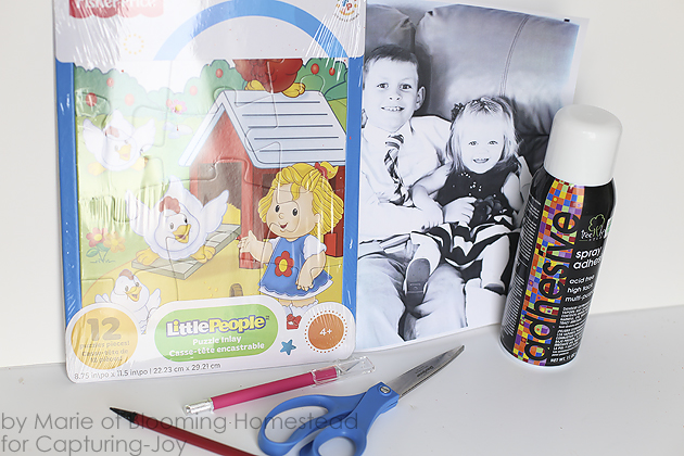 DIY Photo puzzles- fun and affordable way to preserve memories and these make great affordable gifts too!