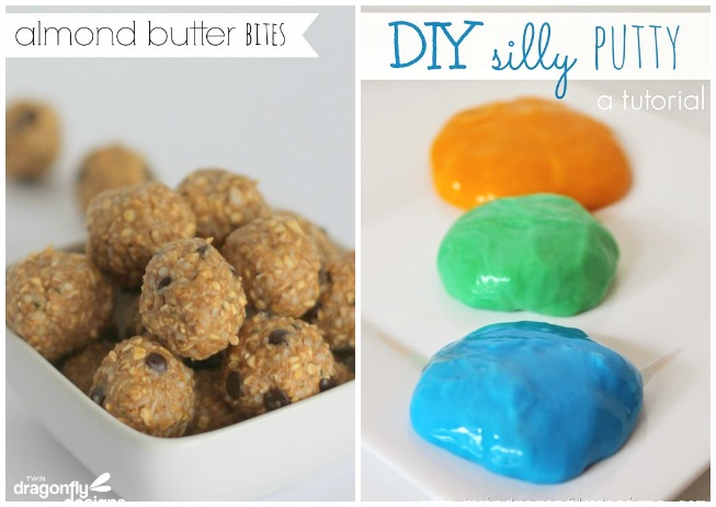 Almond Butter Bits and DIY silly putty tutorial