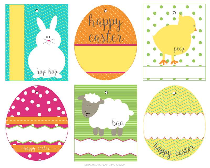Punchy image in easter tags printable free