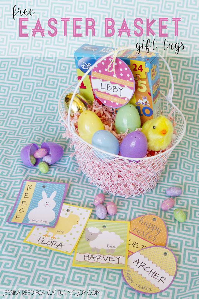 Free Easter Basket Gift Tag Printables - @hipandsimple