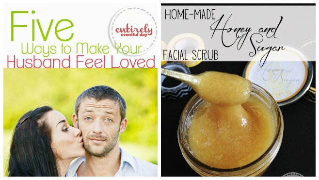 Home made honey and sugar facial scrub