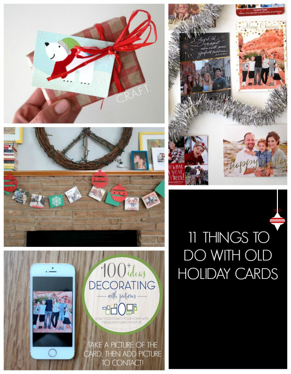 Ideas for what to do with old Christmas cards