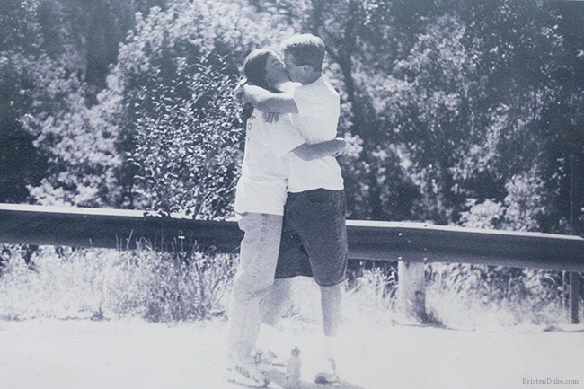 love story kissing