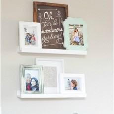 Photo ledge picture home decor