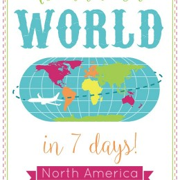 Travel Around the world in 7 days to North America