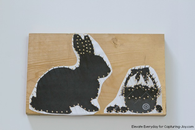 Easter bunny string art from capturing joy with kristen duke easter bunny string art solutioingenieria Image collections