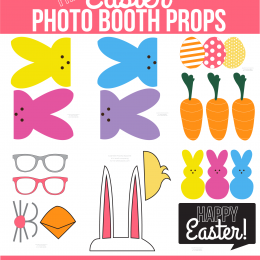 Free Printable Easter Photo Booth Props