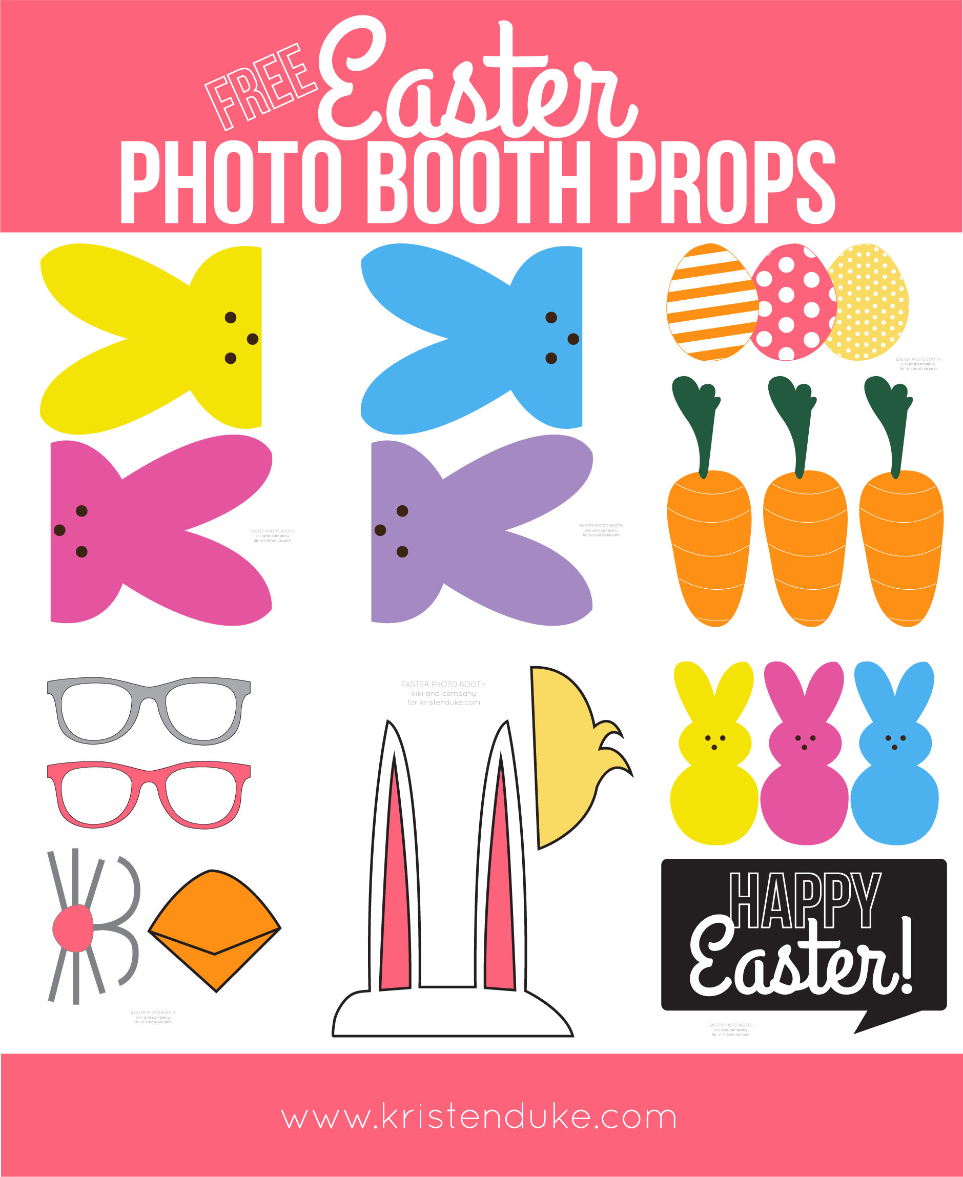 picture regarding Easter Printable identified as Easter Photograph Booth Props versus Taking pictures Contentment with Kristen Duke