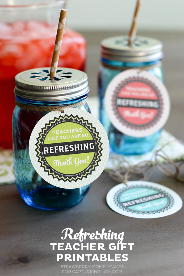 Refreshing Teacher Gift Printables