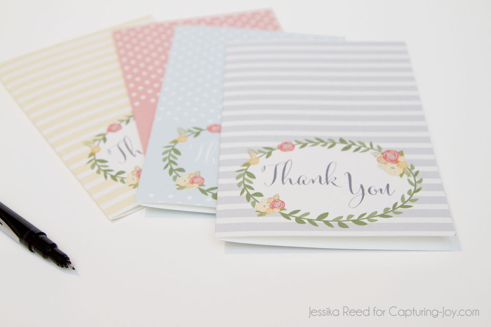 Thank you card free printables 2