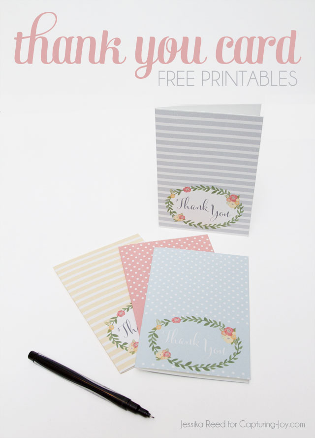Thank you card free printables