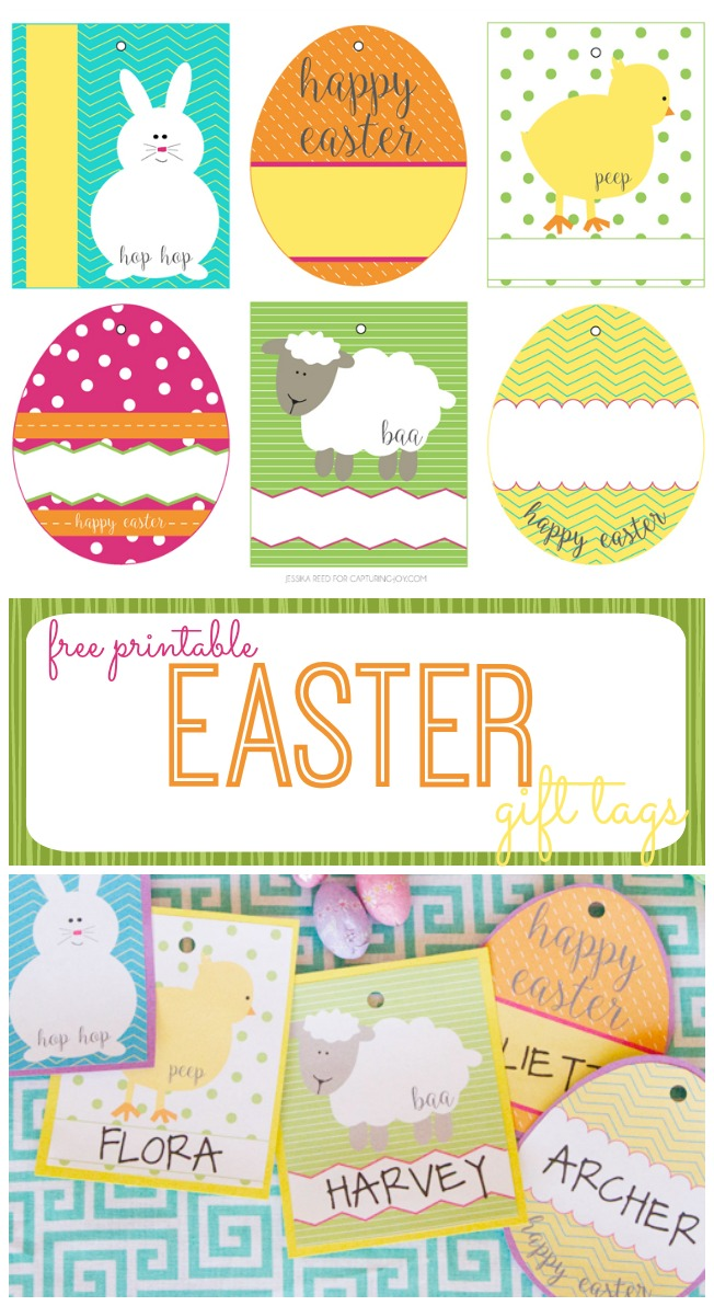 Free easter basket gift tags capturing joy with kristen duke free printable easter gift tags negle Images