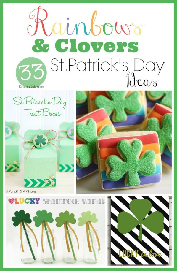 St. Patrick's Day ideas - rainbows and clovers